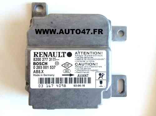 REPARATION BOITIER AIRBAG RENAULT CLIO 2